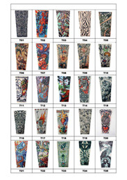 Wholesale 95 Styles Available Nylon Elastic Seamless Tattoo Sleeve Stretchy Arm Stocking