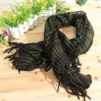 Wholesale New Unisex Square Shaped Winter and Fall Warm Shawl Stole Scarf Muffler with Fringed Decorat