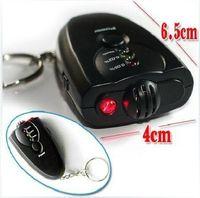 Wholesale 100pcs Mini Breath Alcohol Tester LED Digital Breathalyzer Keychain with Flashlight no packing