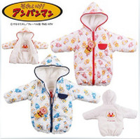 Wholesale Winter Anpanman baby double sided double layer fabric to wear girls boys thick velvet padded j
