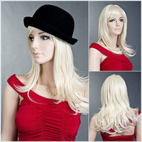 Wholesale best quality wig long wavy wig wigs blonde wig kanekalon fiber wig skin top hair wigs