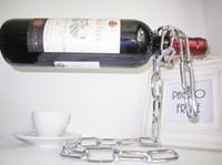 Wholesale Magic Chain Wine Bottle Holder best pirce colors Silver Metallic champagne kg
