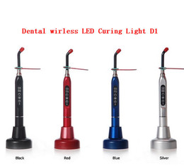 Wholesale 12pcs cordless dental curing light lamp D1BLLED Curing Light Wireless D1 Lamp Colors available