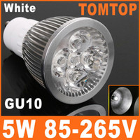 Wholesale 5W GU10 White LED Light Lamp LM Energy Saving Bulb Lamp V Aluminum alloy spotlight H8059W