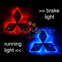 Wholesale LED Auto Mark Light Car Badge for Mitsubishi Blue Red Tail vehicle logo when brake CG104128