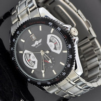 high quality automatic watches - High Quality Silver Mens Skeleton Stainless Steel Winner Automatic Watch