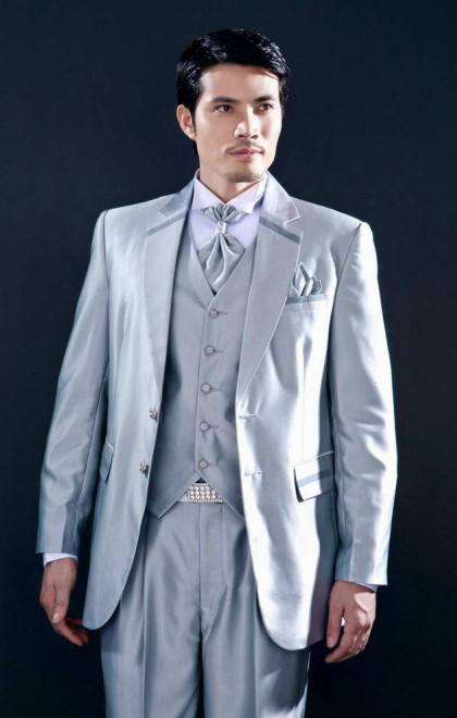 Silver Groom Suit Jacket,Vest,Pants,Tie Set Yzs168 Custom Groom ...