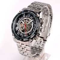 Wholesale Luxury Men Mechanical Watch Stainless Steel Strap Complicated Design Mech N7344