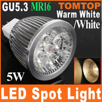 Wholesale 5W V GU5 MR16 White Warm white Spotlight LED ceiling Light lamp wall bulb Energy Saving H8061