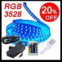 Free shipping SMD 3528 60LED M Led Flexible Strip RGB 5M + IR...
