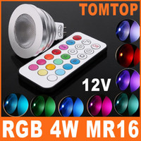 4w led mr16 - Colorful LED RGB Lamp W V MR16 Light Bulb ceiling lamps with Remote Control H8074