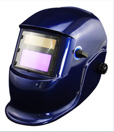 Wholesale Blue Li Battery Solar automatic darkening welding helmet for MMA TIG MIG welder and plasma cutter