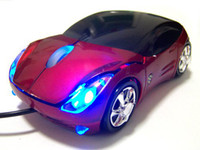 Wholesale luxury car mouse colorfull light car wired mouse computer mouse with USB cable