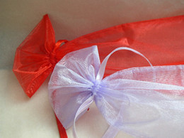 100 Pcs Red Organza Gift Bag Bags Wedding Favor Party Big Size 20X30cm New