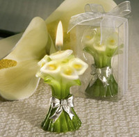 Wholesale Wedding Party Gift Candle Lilly calla Vase Shaped Home Supply white