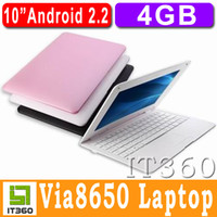 Wholesale 10 Inch Via8650 Android Camera Wifi Win CE Tablet PC Mini Notebook Netbook Laptop PDA It360