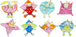 Wholesale Baby plush toy Cuddle cloth Nicotoy toy with Rattle Soft Plush Baby Toy CM CE MARK Mix Orders