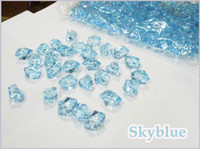 Wholesale 1000 High Quality Skyblue Wedding Table Scatters Acrylic Confetti Gem Stones Vase Decor Party Favor