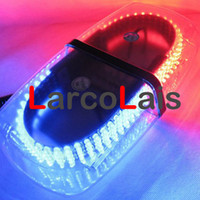 Wholesale 30pcs LED Car Auto Roof Flash Strobe Magnets Emergency EMS Light Shell Flashing Lights Red Blue