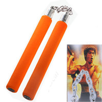 Wholesale Soft Sponge Plastic Practice Nunchuck Orange
