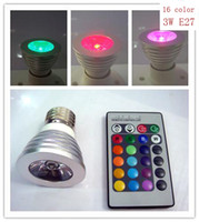 Wholesale 3W E27 Remote Control LED Bulb Light Color Changing