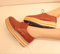 Wholesale 2012 pure colors stripes platform oxford shoes ladies casual shoes colors