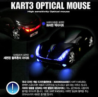 Wholesale 10pcs The Lastest Ferrari Car Shape Optical Mouse Optical Technology Dpi USB Optical Navi Key