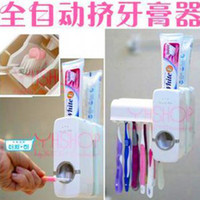 Wholesale NEW Automatic Toothpaste Extrusion Tools Toothbrush Holder Toothpaste Dispenser Touch N Brush