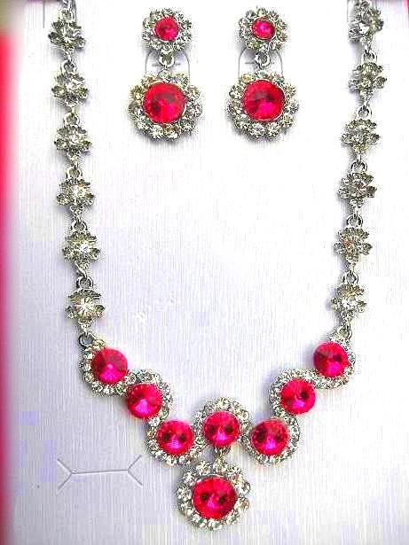 Wedding jewelry sets bridal wedding jewelry fashion for Pink wedding jewelry sets