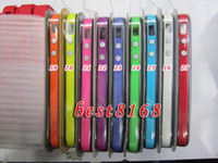 Wholesale Plastic Silicone TPU Frame Bumper case bumpers metal button solo for iphone G S GS