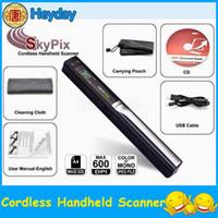 Wholesale HOT handy wireless SKYPIX quot LCD photo scanner hander handheld book document A4 color sensor USB