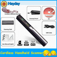 Wholesale 1 quot LCD wireless handheld handy scanner SKYPIX photo book document A4 color sensor hander with USB