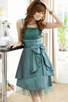 Wholesale Womens dress fashion wedding dress bridesmaid dresses bowknot dress evening Party dress