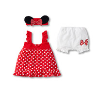 Girl baby kitting clothes - children clothes baby New cute cartoon short sleeve girls piece suits Kit ribbon sets dandys
