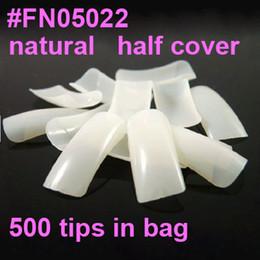 Wholesale Freeshipping natural french nail art tips half cover Dropshipping Retail SKU A0005