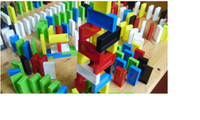 Wholesale Educational Toys Domino International Standard Plastic domino piece Toy Block Building Blocks Christmas Gift Science Discovery