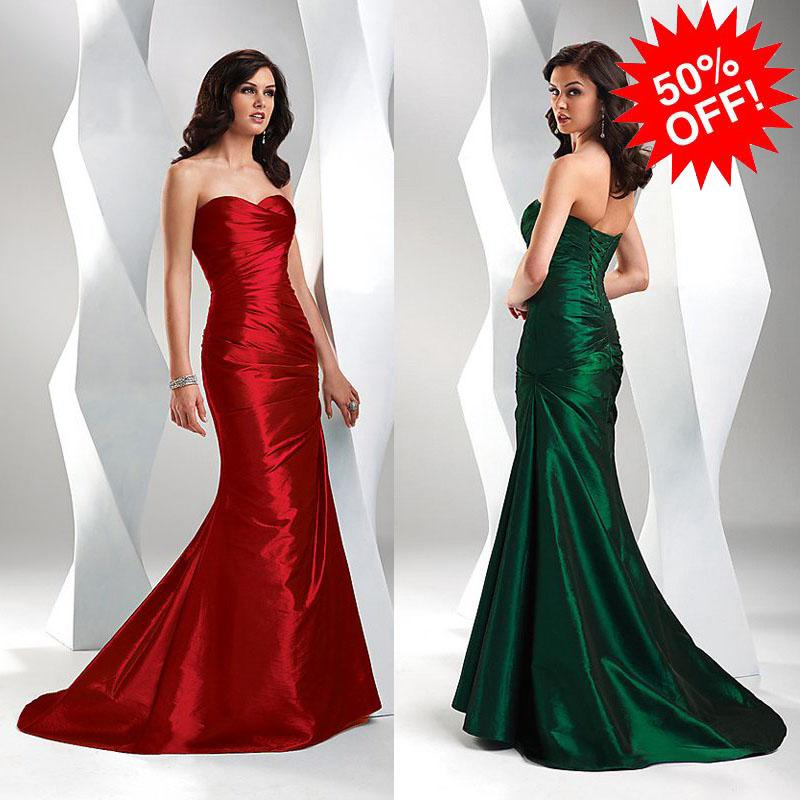 2012 New Mermaid Dark Green Sweetheart Open Back Long Prom Dress ...