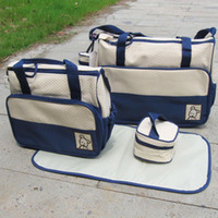 Wholesale sets Ibaby Diaper bag piece set Waterproof Mommy Mother Mummy Nursery bags for bab