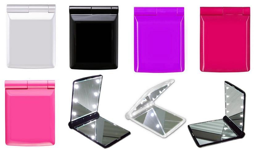 Mini Portable Girl Compact Hand Makeup Pocket Mirror With