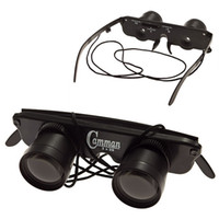 Wholesale Portable x Glasses Style Anti Ultraviolet Fishing Telescope Binocular with Strap Black