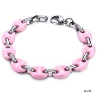 Wholesale tungsten steel black ceramic tungsten Bracelet Fashionable new accessories Pink color