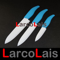 Wholesale Blue Handle White Blade Paring Utility Chef Kitchen quot quot quot inch Ceramic Knife Set Gift