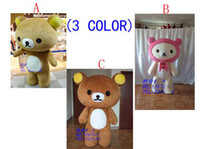 Wholesale EPE Rilakkuma bear Mascot costume Catoon Costumes Halloween Fancy Dress Adult Size