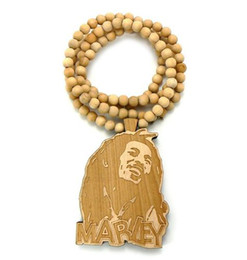 Custom HipHop rosary High quality jewelry Good wood chain necklace pendant mix order Christmas Gift Free Shipping