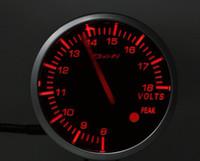 Wholesale white red inch gauge defi volt gauge mm freeshipping