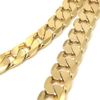 Wholesale Whoelsale K YELLOW GOLD FILLED MEN S NECKLACE quot CURB CHAINS g GF JEWELRY MM WIDTH free ship
