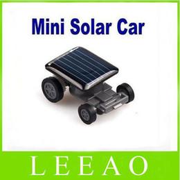 100pcs lot # Mini Smallest Solar Powered Robet Racing Car Moving Drive Car Fun Gadget Toy For Kids