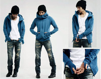 Wholesale Men s Hoodies Full Zip Jacket Slim Jacket Men s hoodie jacket coat sweatshirt