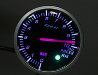 Wholesale Freeshipping mm gauge defi oil pressure meter white blue