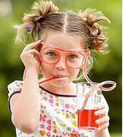 Magic Plastic Drinking Straw Glasses Novelty Funny Drinking ...